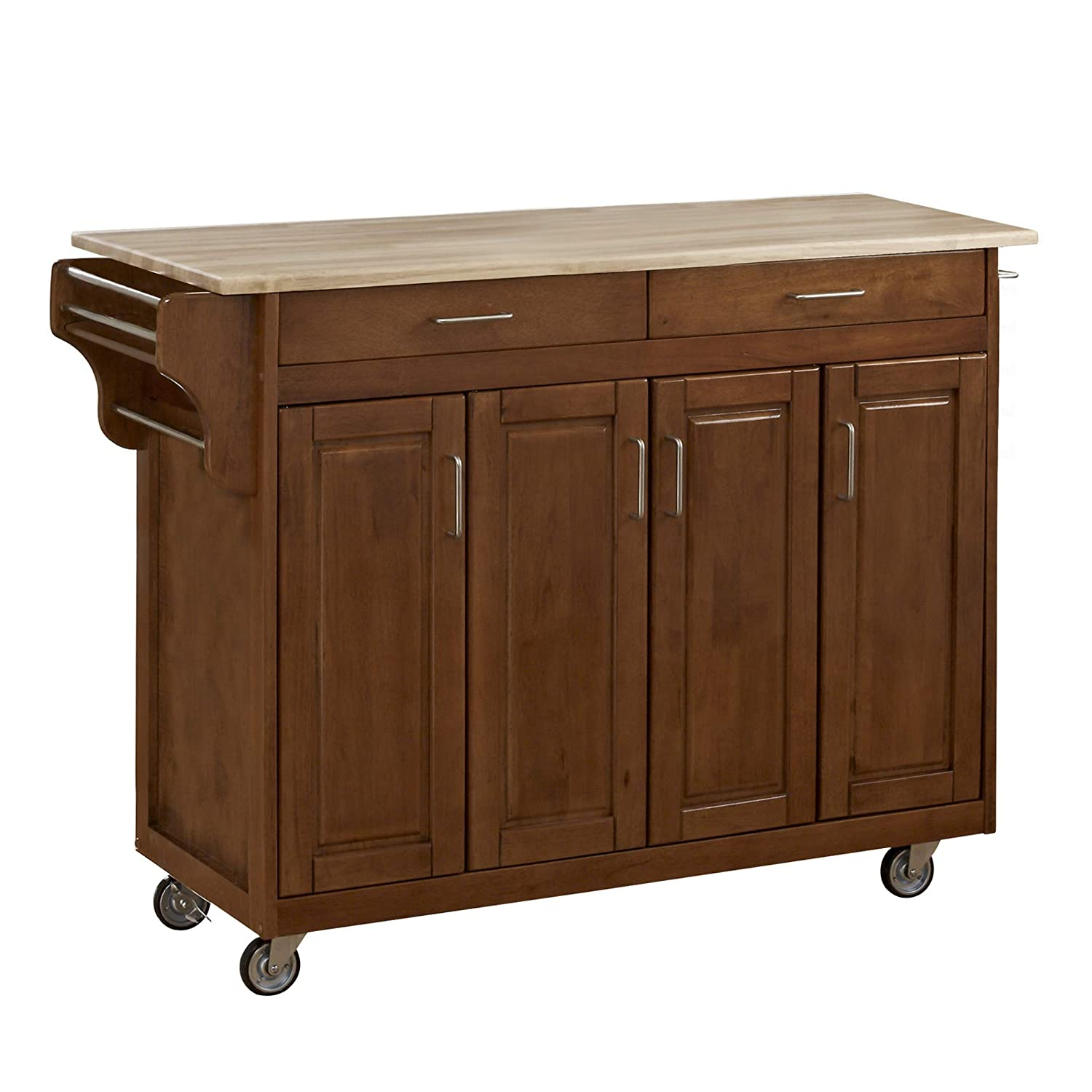 Create-a-Cart Cottage Oak 4 Door Cabinet with Wood Top by Home Styles