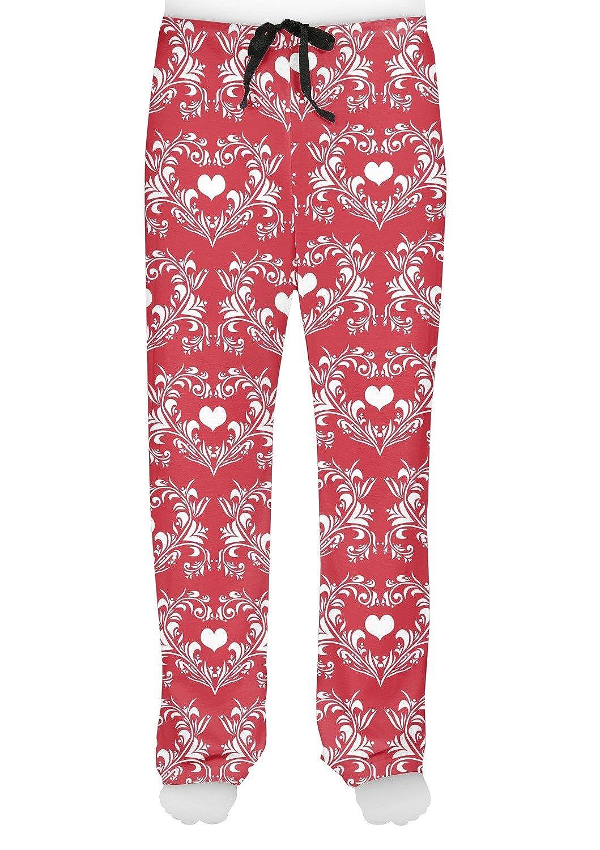 RNK Shops Heart Damask Mens Pajama Pants Personalized