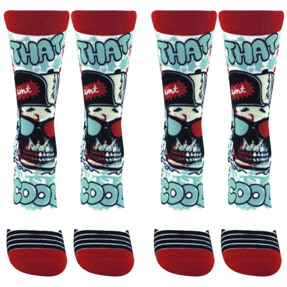 WXXM SOCKSHOSIERY メンズ B0749LDHRY 2 Pairs-funky Socks B01 2 Pairs-funky Socks B01