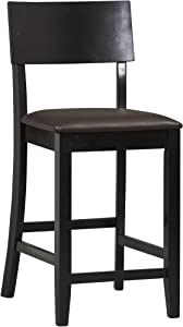 "Linon Home Dcor Linon Torino Contemporary Counter Stool, 17""w x 20""d x 37""h, Dark Brown"