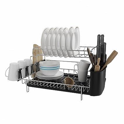 amazon com athomestore 2 tier professional dish rack 304 stainless rh amazon com drymate kitchen dish drying mat kitchen basics dish drying mat walmart