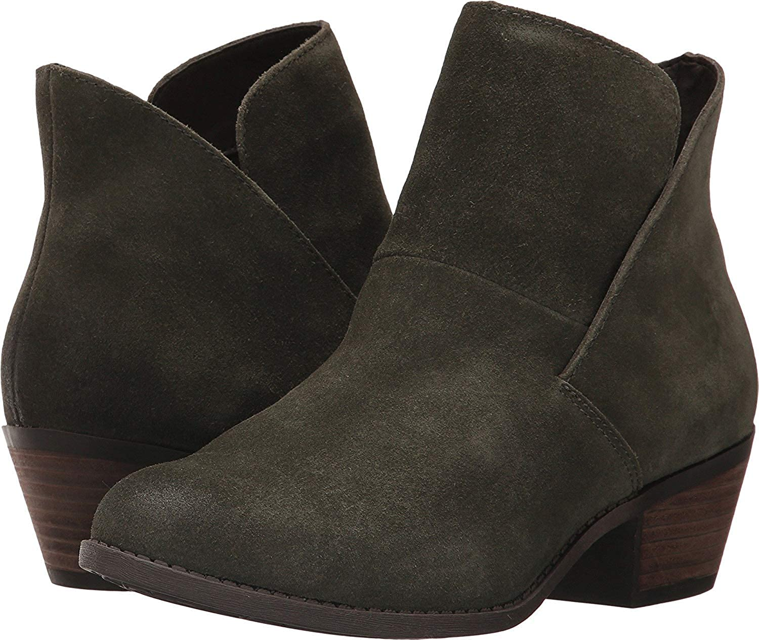 Moss Suede Me Too Womens Zena 14 Leather Almond Toe Ankle Fashion Boots