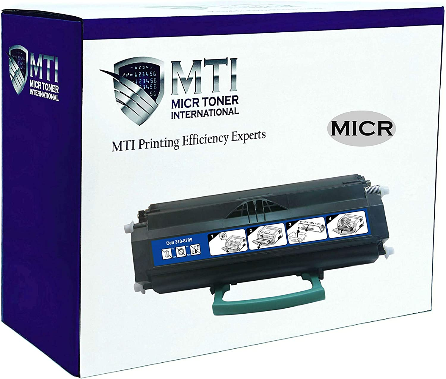 MICR Toner International Compatible MICR Toner Cartridge Replacement for Dell 310-8709 1720, 1720dn
