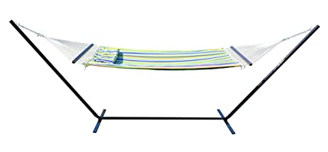 stansport antigua double cotton hammock with stand amazon     stansport antigua double cotton hammock with stand      rh   amazon