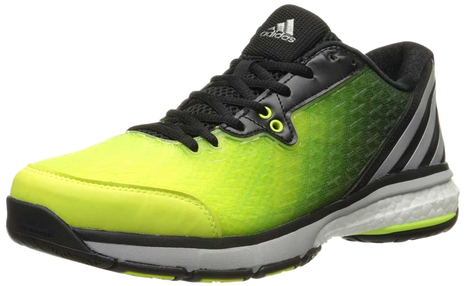 adidas Women's Energy Volley Boost 2.0-W Yellow/Silver/Black 13.5 M US
