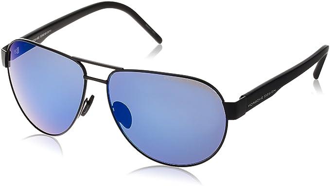 9ff78c5dfda8 Image Unavailable. Image not available for. Colour  Porsche Design Men s  P8632 P 8632 A Black Aviator Sunglasses 61mm