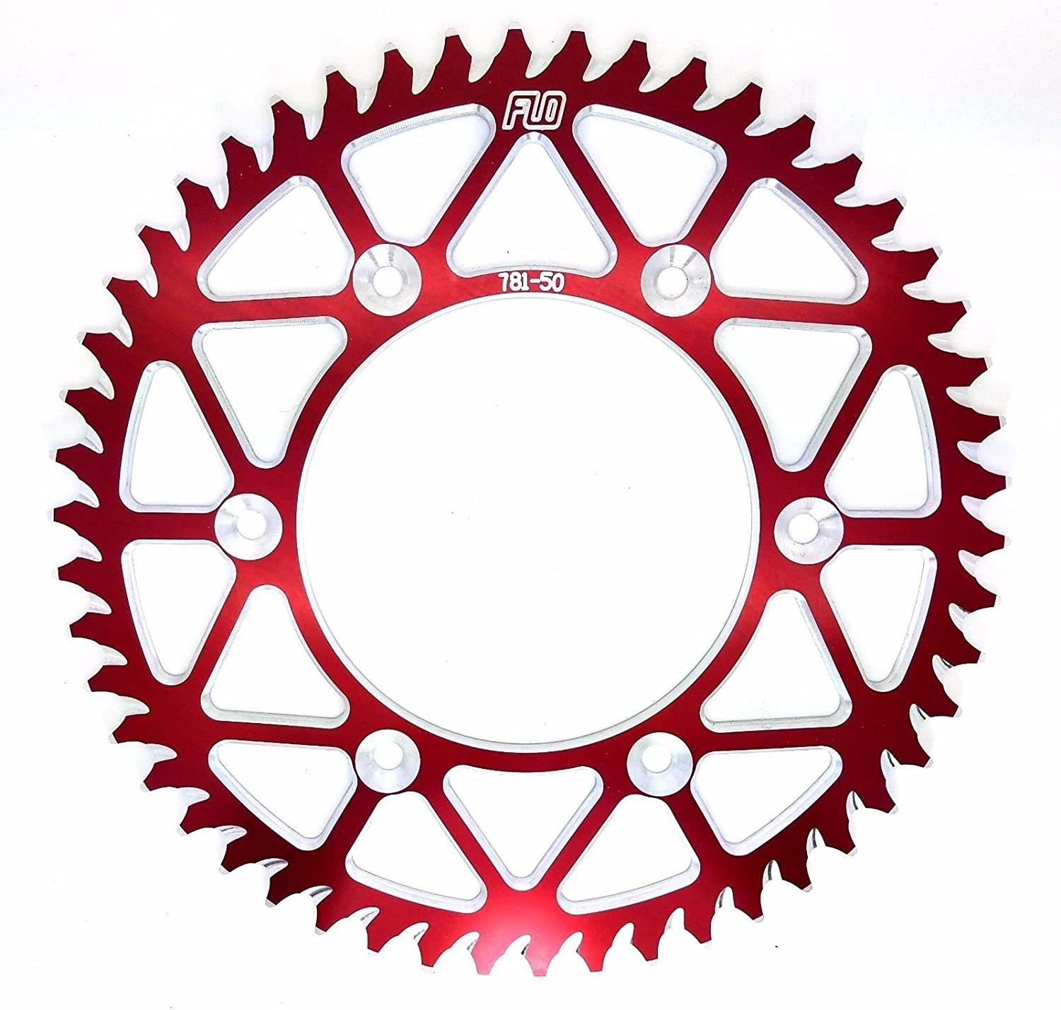 50 FLO MOTORSPORTS O-Ring Chain Combo Kit CR125 // CRF250 FRONT SPROCKET 13T // REAR SPROCKET 48 51 TOOTH 51T, RED 49