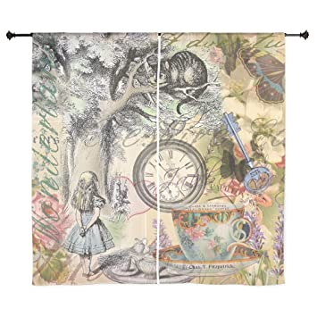 Curtains Ideas alice in wonderland curtains : Amazon.com: CafePress - Cheshire Cat Alice In Wonderland Curtains ...