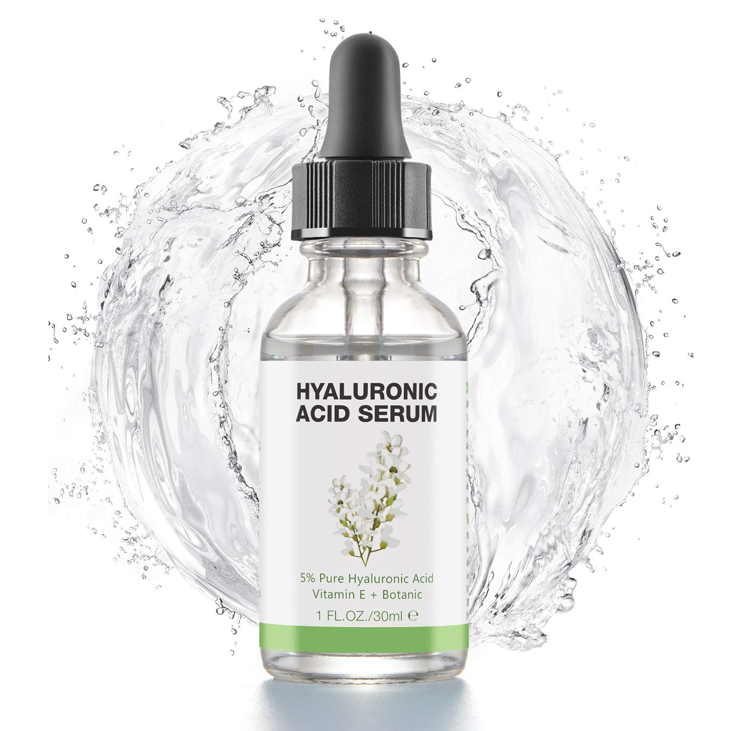 Hyaluronic Acid Serum for Skin - 100% Pure Organic HA, Anti-Aging Face Serum for Dry Skin, Fine Lines. Hydrating, Repairing, Replumping, Suitable for Sensitive Skin, 1 Fl. Oz