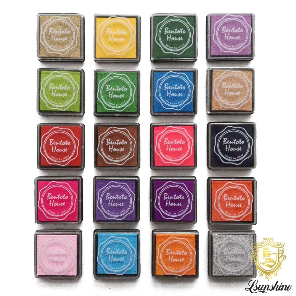 Lsunshine Craft Ink Pad Stamps Partner Diy Color20 Colors Rainbow Finger Ink .. 16
