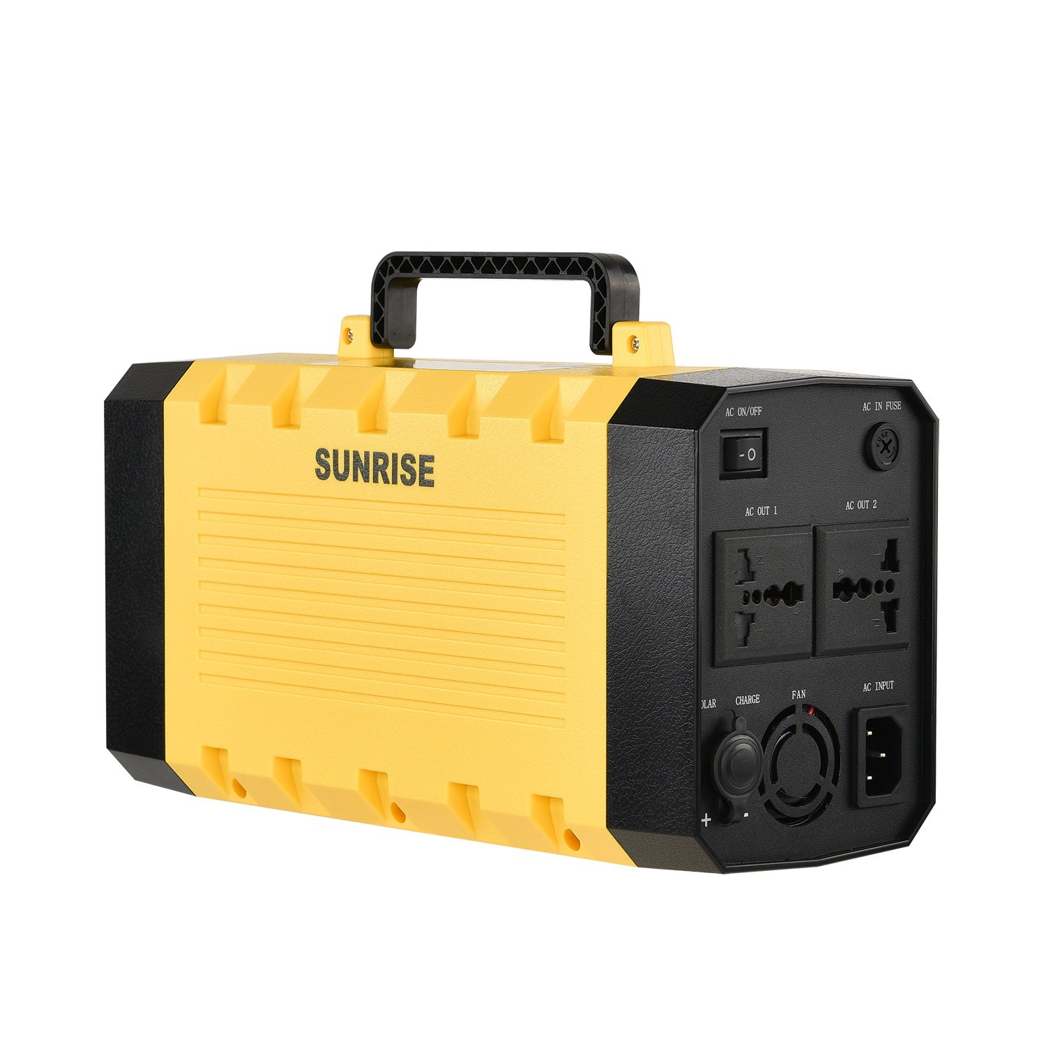 Sunrise PowerStorage, Compact 388Wh / 105,000mAh Portable Outlet, Generator Alternative Rechargeable Power Source with Silent DC/AC Power Inverter, 12V AC & USB Outputs, LED Light