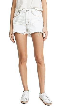 One Teaspoon Bonita High Waist Denim Shorts White Coconut (24)