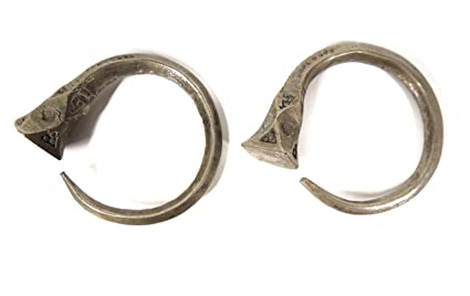 46bb5429e Image Unavailable. Image not available for. Color: Tuareg Silver Hoop  Earrings ...