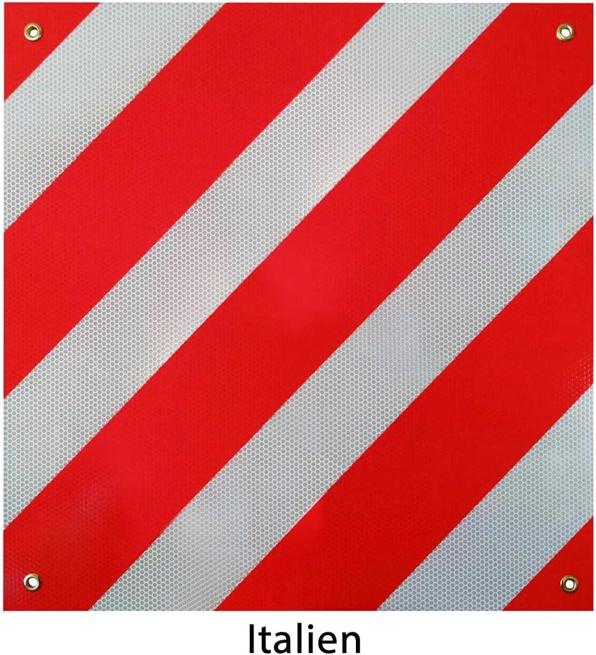 Espagne et Italie Rouge et blanc En aluminium Panneau d/'avertissement Melko 500 x 500 mm