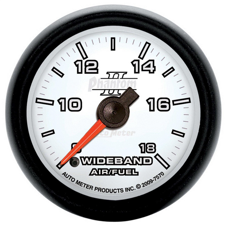 Auto Meter 7570 Phantom II 2-1/16'' Wideband Air/Fuel Ratio Analog Gauge
