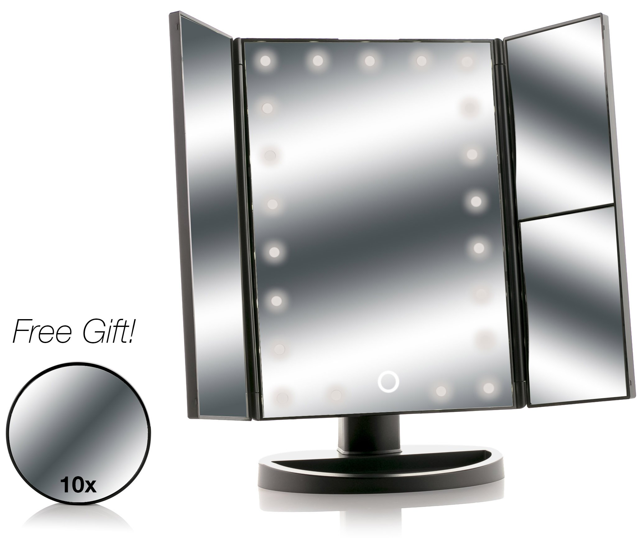 Amazon Com Asani Tri Fold Lighted Magnification Makeup