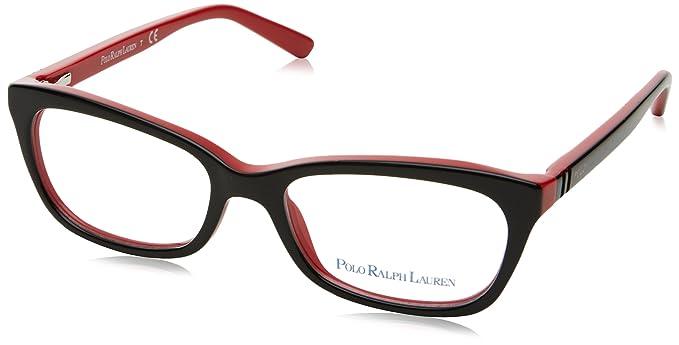Ralph Lauren Polo 0PP8527, Monturas de Gafas para Mujer, Black Red, 47: Amazon.es: Ropa y accesorios