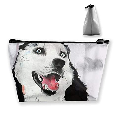 Husky Ink Painting Travel Make Up Bolsas Organizador ...
