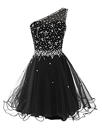Dresstells reg; Womens Short One Shoulder Prom Dress Evening Dress Homecoming Dress with Beads