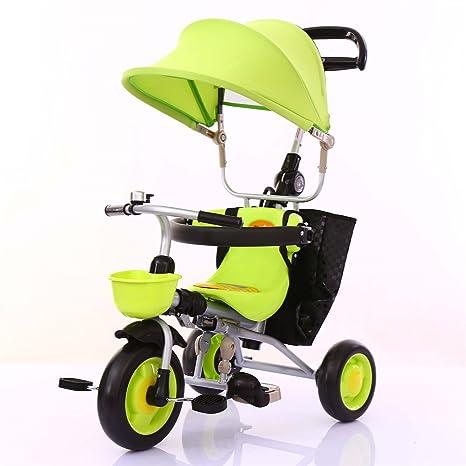 ZGP &Cochecito de bebé Triciclo para niños Carrito para ...