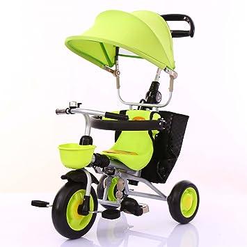 QQB &Carro Plegable Triciclo para niños Carrito para bebés Plegable Bicicleta para niños pequeños 1-