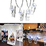 Foto Clip LED String luci Isightguard USB alimentato 20 LED 5m perfetto per la decorazione domestica, appendere foto, note, opere d'arte, partito decorazione di nozze (Blu)