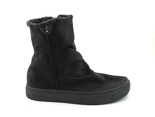 SATORISAN 182020 MERAKI napa Negro Negro Zapatos Botines Mujer Cuero Lana Zip 41: Amazon.es: Zapatos y complementos