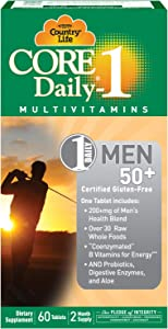 Country Life Core Daily-1 - Dietary Supplement for Men 50 Plus - 60 Tablets, 2 Month Supply