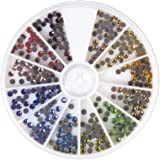 Rayher 15129999 - Cristales de strass (3 mm, caja de 360 unidades), colores variados