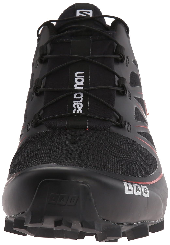Salomon L39122100, Zapatillas de Senderismo Unisex Adulto, Negro (Black/Racing Red), 43 1/3 EU