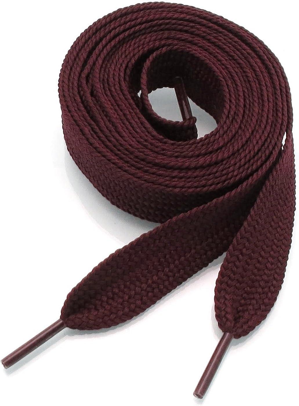 Amazon Com Shoe Laces Flat Thick 52 Inches Long Burgundy Shoelaces Shoes