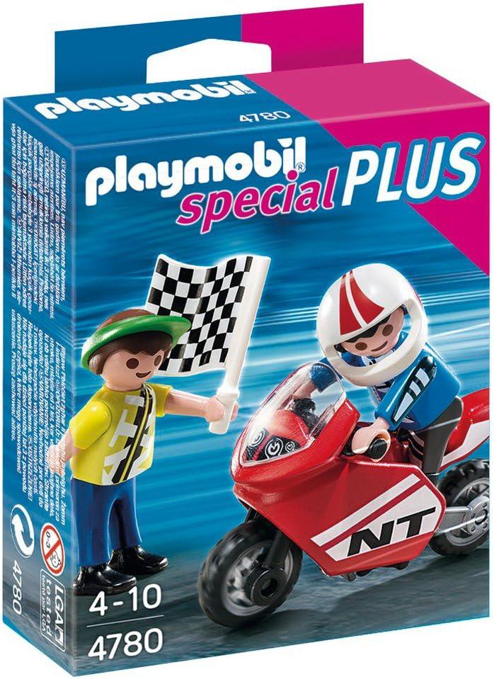 Playmobil Especiales Plus Niños Con Moto De Carreras Playset 4780 Amazon Es Juguetes Y Juegos