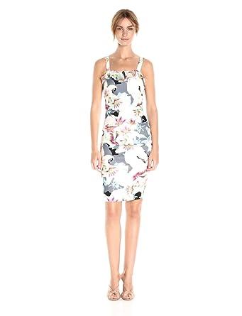 18474d47ec3 Nicole Miller Women s Spring Chambray Stretch Linen Ruffle Dress at ...