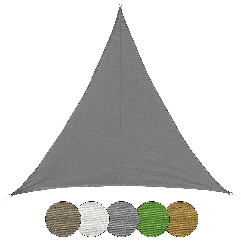 Color:Capuchino BB Sport Toldo a Vela con Forma triangulada 100/% poli/éster PES en Muchos Colores Diferentes Tama/ño:2.5m x 2.5m x 3.5m