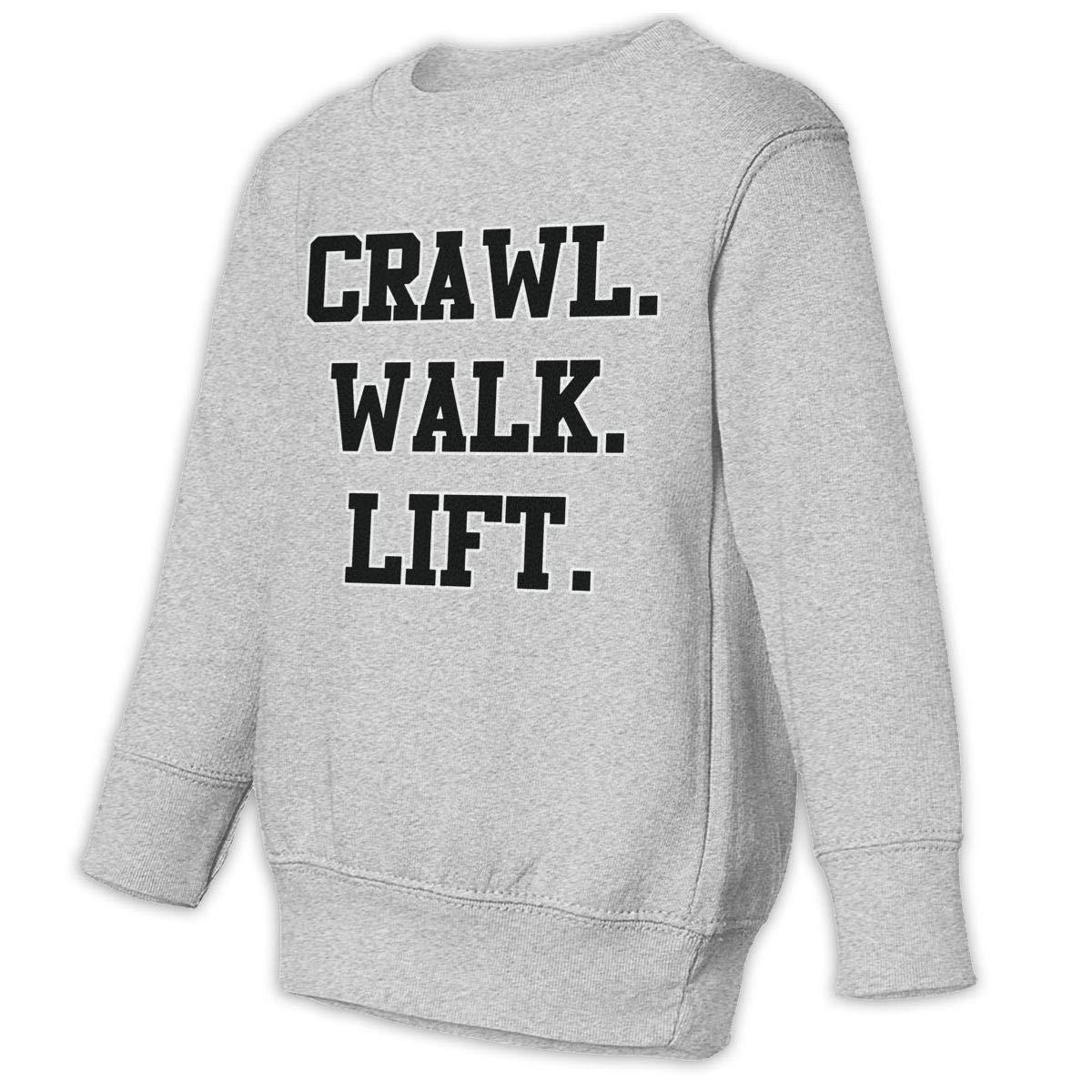 Crawl Walk Lift Baby Sweatshirt Stylish Kids Hoodies Soft Pullovers