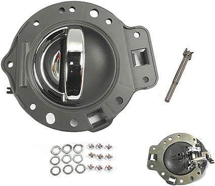 For 06-10 Jeep Commander Inside Inner Door Handle Gray /& Chrome 4PCS 06 07 08 09 10 DS509