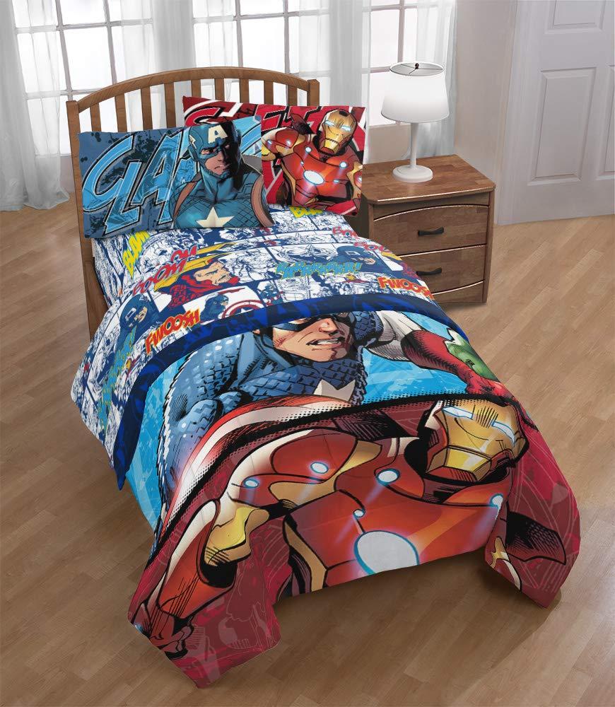Jay Franco Marvel Avengers Publish 3 Piece Twin Sheet Set, by Jay Franco (Image #8)