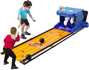 gootrades Electronic Bowling Game,1-2 People Family Arcade Bowling Game,Indoor Parent-Child Interactive Ball Toy Alley Game,Leisure Children's Toys