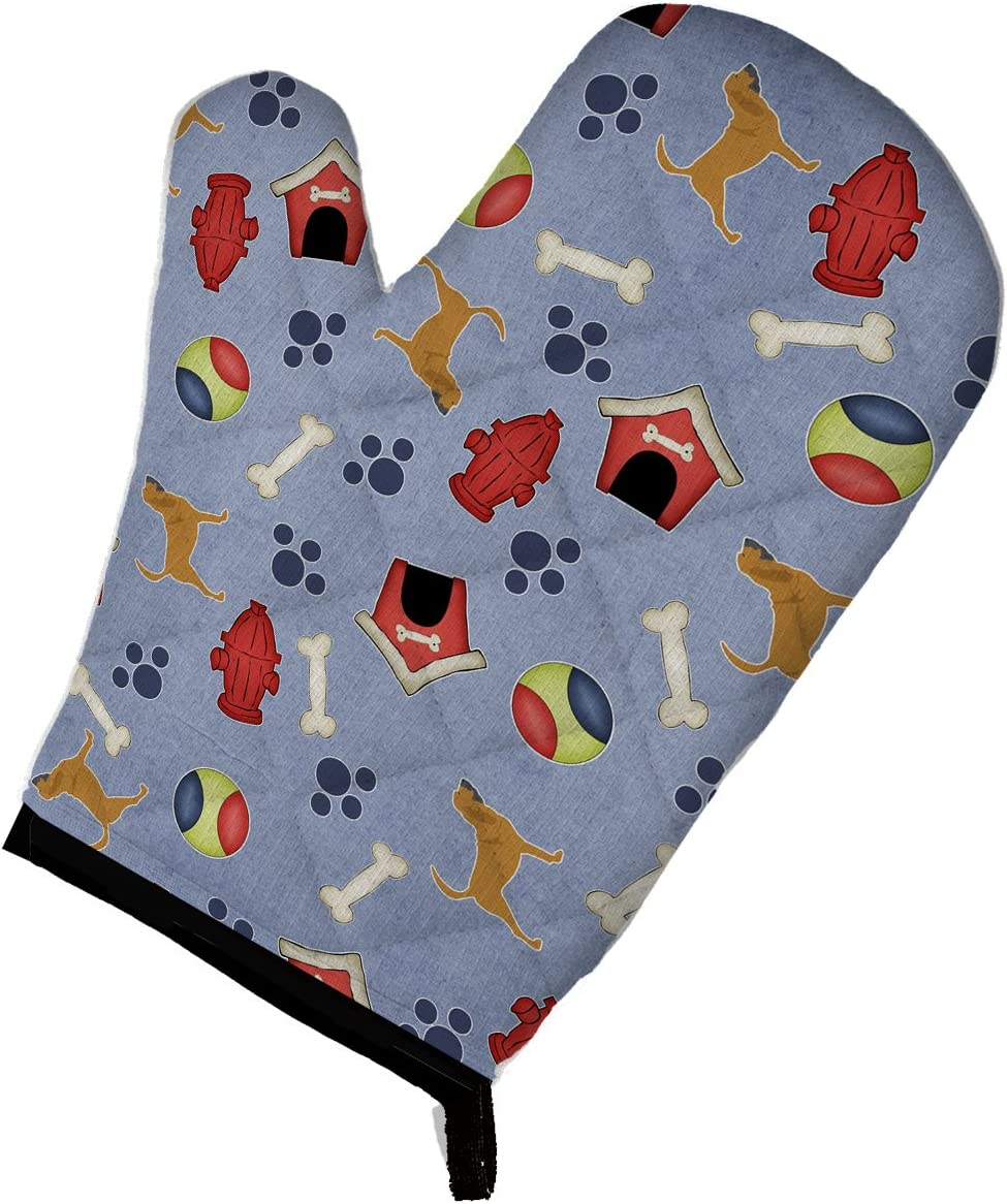 Caroline's Treasures BB3884OVMT Bloodhound Dog House Collection Oven Mitt, Large, multicolor