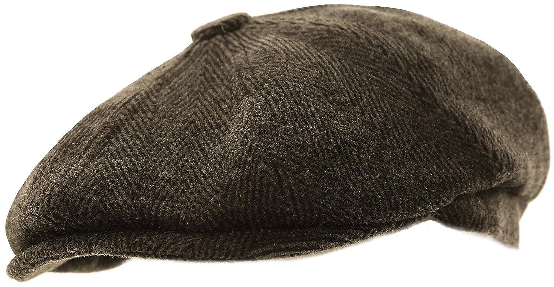 Mens Herringbone Baker Boy Caps
