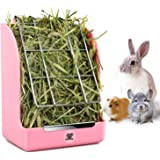 Hay Feeder, Hay Rack, Reduce Timothy Alfalfa Oat Hay Waste, Suitable for Rabbit Guinea Pig Chinchilla Hamster Accessories, Bowl That are Easily Connected to The Cage(5.5X3.5X7inch)