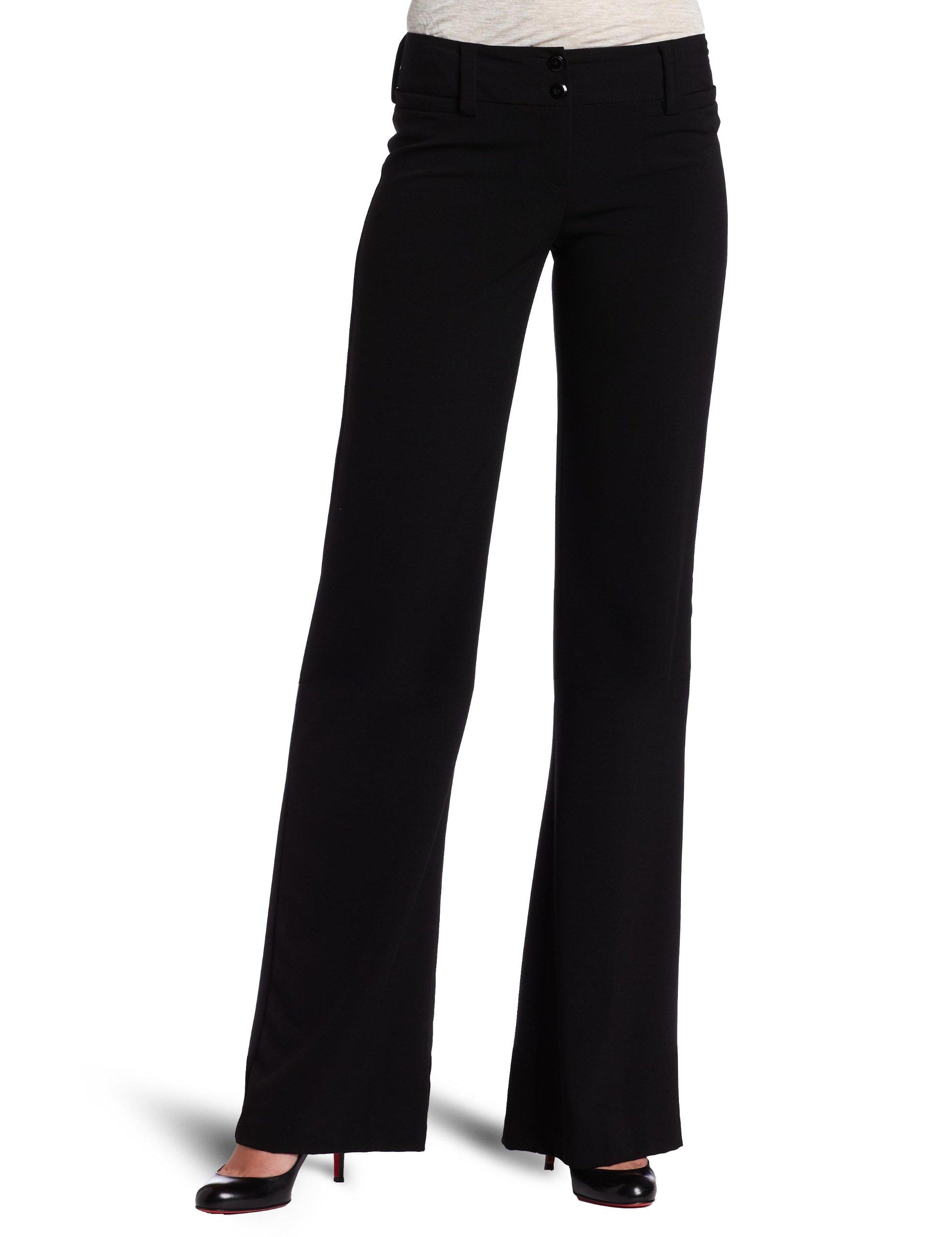 A. Byer Juniors Tropical Cambridge Trouser Pant, Black, 5