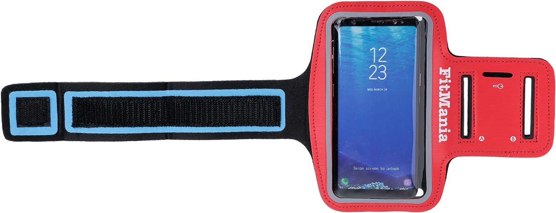 Samsung Xiaomi Bleu Brassard de sport confortable et r/ésistant /à la transpiration avec trou de cl/é Huawei Brassard de support universel pour t/él/éphone FitMania pour iPhone One Plus
