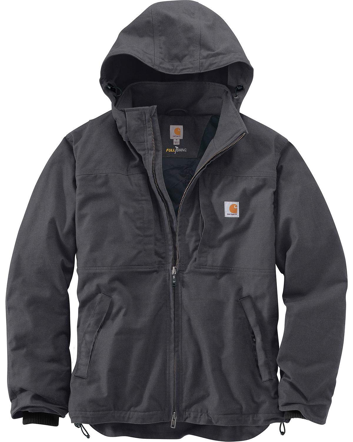 Carhartt Men's Big & Tall Full Swing Cryder Jacket, Shadow, X-Large/Tall by Carhartt
