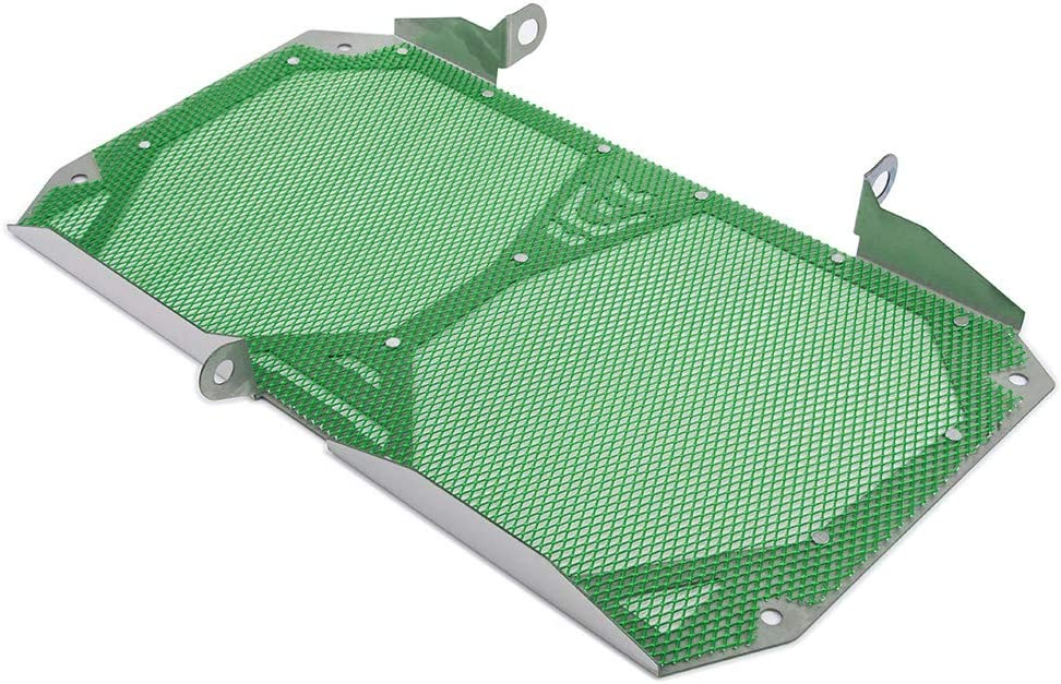 green FATExpress Motorcycle Aluminum Stainless Steel Radiator Guard Grill Cover Bezel Protector for 2012-2018 Kawasaki Versys 1000 KLZ1000 LT 2013 2014 2015 2016 2017 12-18