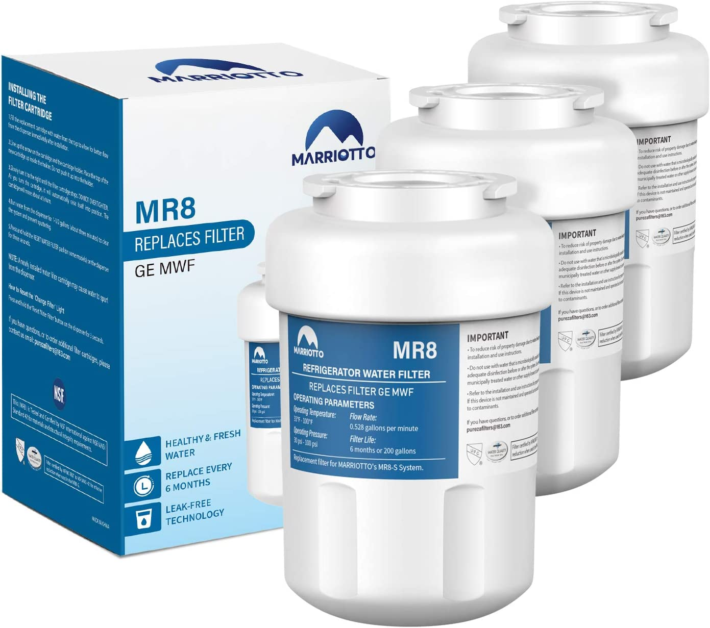 MARRIOTTO Water Filters for GE Refrigerators