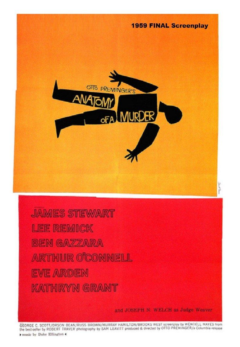 Screenplay Anatomy Of A Murder 1959 Script Loose Leaf Edition
