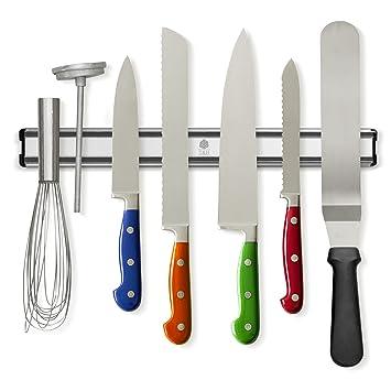 Tu0026Hproducts  Magnetic Knife Holder   Storage Strip   Kitchen Knives Bar    Aluminum Rack