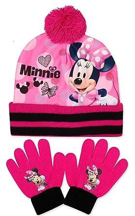 DISNEY, MINNIE MOUSE - Ensemble bonnet, écharpe et gants - Fille Rose et  noir 6f201dc22dd