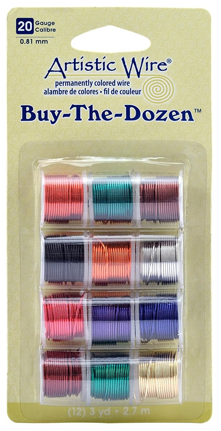 Artistic Wire 20-Gauge Buy-The-Dozen, Various Colors, 12-Pack (3 Pack) by Beadalon (Image #1)